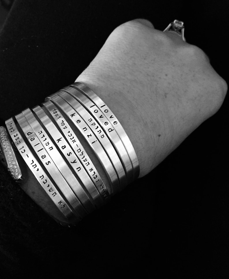 customized personalized name word quotes or ur favorite song cuff bracelets Say What You Want To Say SIMAG handmade jewelry By