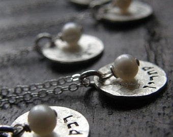 Romantic Wedding Jewelry (gifts for your bridesmaids) Sterling Silver Disc personalized it  In Hebrew Or English - Simag