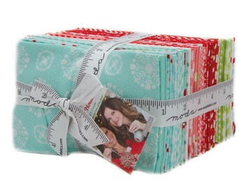 SALE It's here! 40 Fat Eighths 1/8 - Bonnie and Camille ViNTAGE HOLiDAY fabric bundle  Moda 55160F8