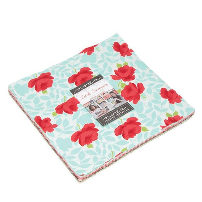SALE 10 inch squares Layer Cake  LITTLE SNIPPETS Moda Fabric image 0