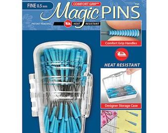 "Magic Pins Fine QUILTING 1 3/4"" - 100 count 0.5 mm Fine comfort grip Taylor Seville Heat Resistant"