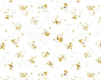 Little Brier Rose FAIRIES fairy fabric Riley Blake Designs Jill Howarth fat quarter half yard SC11073-WHITE sparkle sleeping beauty