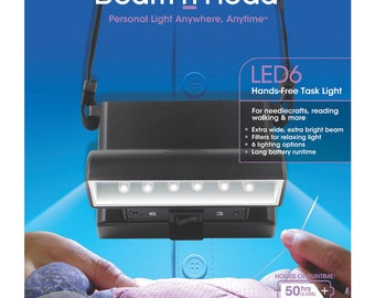 Beam n Read LED6 Personal Hands free Light for crafting sewing quilting traveling