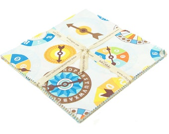 10 inch squares Stackers FUN & GAMES fabric by Riley Blake