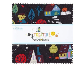 5 Inch charm pack TINY TREATERS Fabric Riley Blake Designs by Jill Howarth 5-10480-42