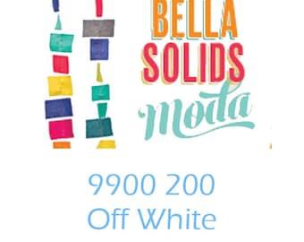 Bella Solids yardage Off White 9900 200 Moda fabric material yard fat quarter half