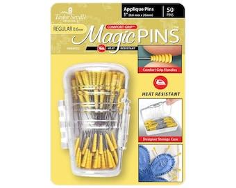 APPLIQUE Magic Pins 50 count comfort grip .06mm regular Taylor Seville Heat Resistant 219522