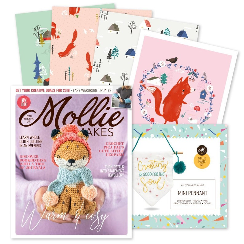 SALE Mollie Makes magazine Issue 101  pennant  Living & image 0