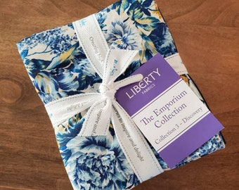 15 Fat Quarters Liberty of London The Emporium Collection 3 Discovery Riley Blake Designs blue floral FQ-04775910-3-15