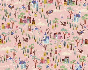 BEAUTY and the BEAST fabric French Countryside pink Riley Blake Designs by Jill Howarth fat quarter half yard C9533-Pink