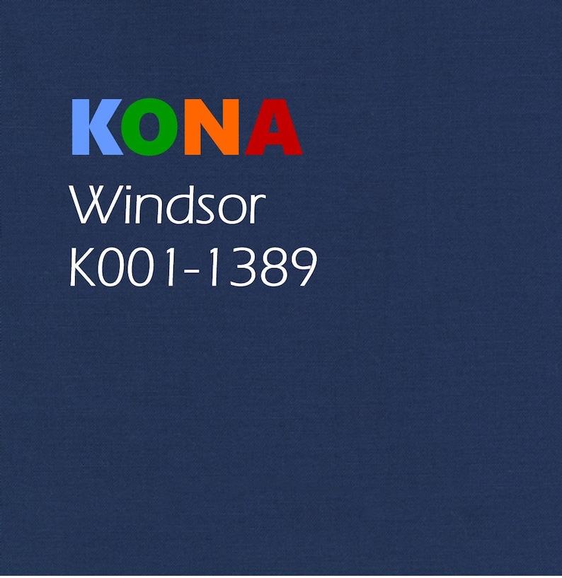 1/2 yard Kona Windsor Blue Cotton solid fabric Robert Kaufman image 0