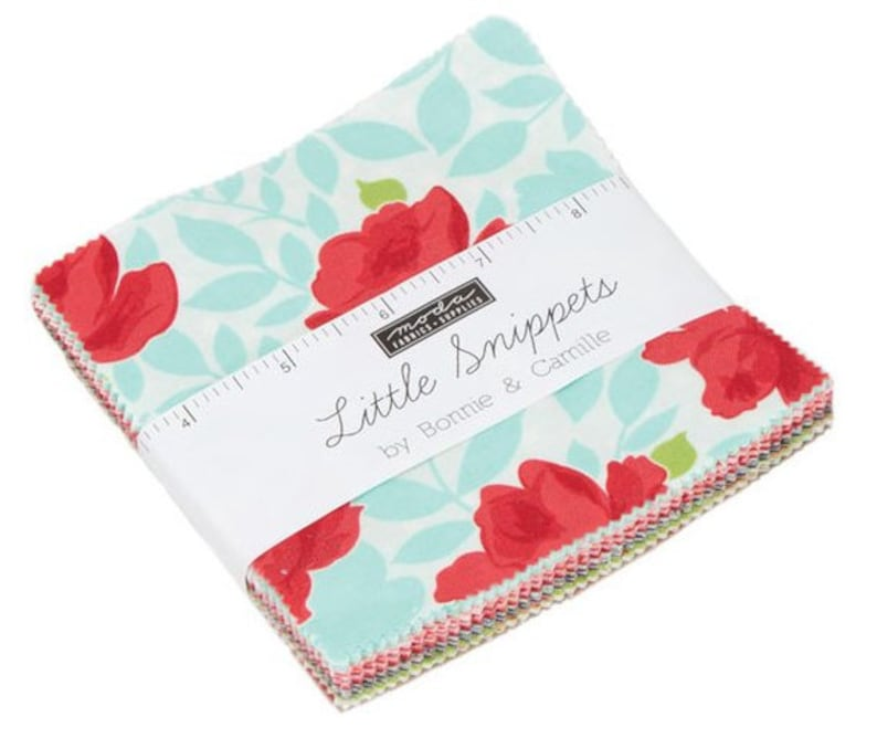 SALE 5 inch charm pack LITTLE SNIPPETS Moda Fabric by Bonnie & image 0