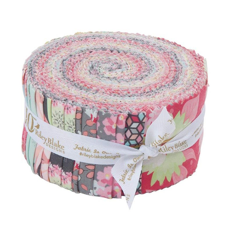 SALE 2.5 inch strips PAPER DAISIES Jelly Roll fabric by Riley image 0