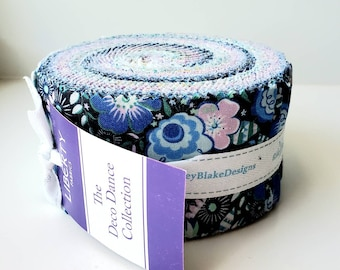 2.5 inch strips The DECO DANCE Jelly Roll fabric by Riley Blake Designs Liberty of London RP-0477592-40