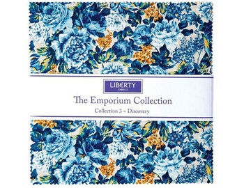 10 inch squares LIBERTY of LONDON Layer Cake Riley Blake Designs Fabric by The Emporium Collection 3 Discovery