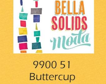 Bella Solids yardage Buttercup Yellow 9900 51 Moda fabric material yard fat quarter half