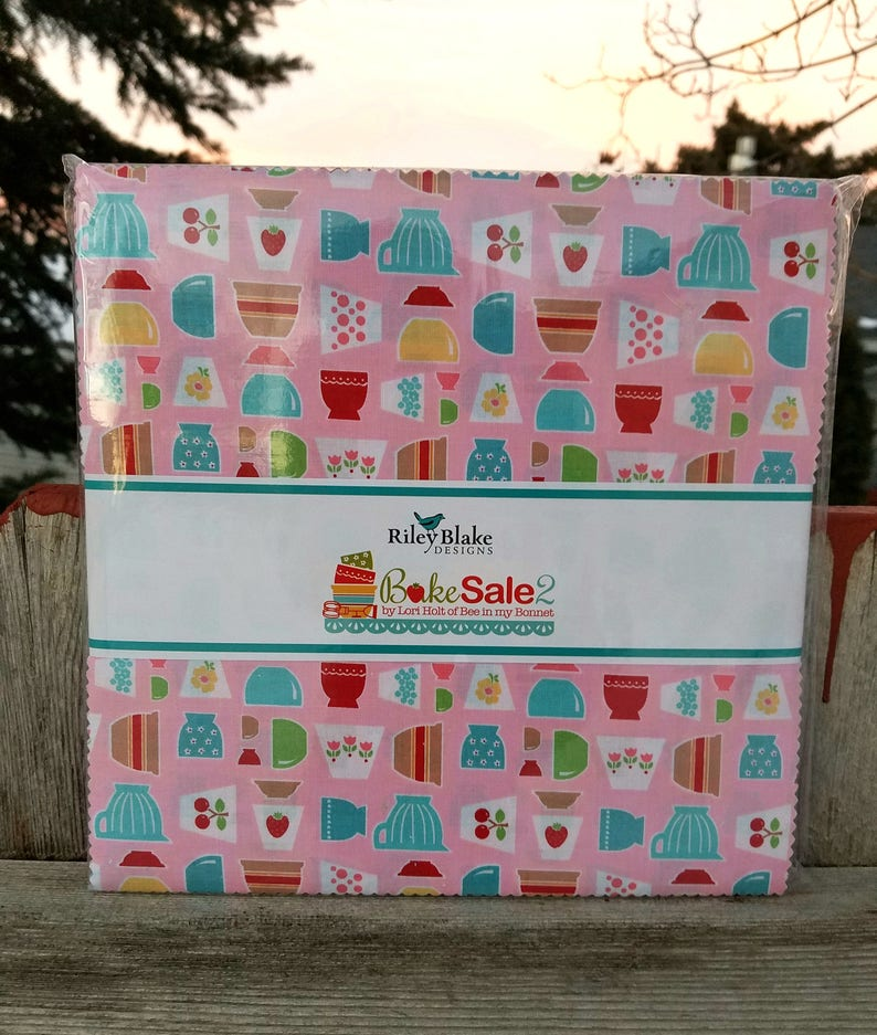 SALE 10 inch squares BAKE SALE 2 layer cake Stacker fabric by image 0