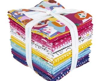 free ship 24 Fat Quarters GRL PoWER fabric Riley Blake Designs by Amber Kemp-Gerstel FQ-10650-24