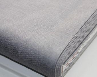 "1 yard or 30"" Graphite Grey Moda Cross weave by Moda Fabric 12119 52  Crossweave"