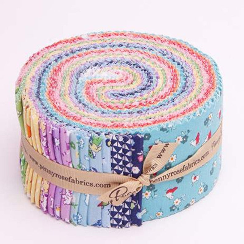 SALE 2.5 inch strips STORYTIME 30's Jelly Roll fabric by image 0