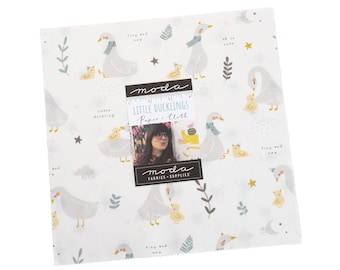10 inch squares Layer Cake - LITTLE DUCKLINGS Moda Fabric by Paper and Cloth 25100LC
