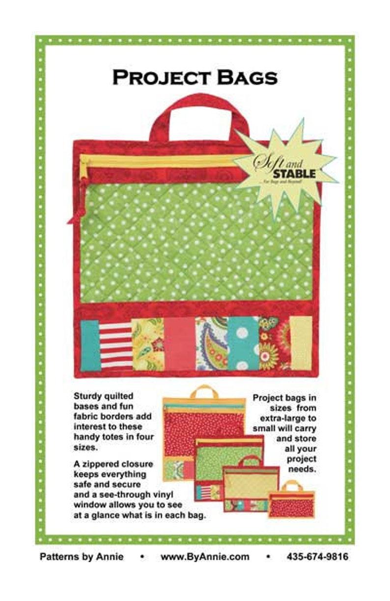 SALE PROJECT BAGS Pattern tote vinyl by Annie Unrein PBA206 image 0