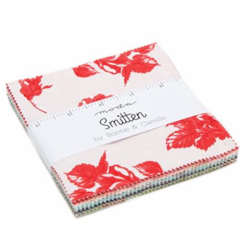 SALE 5 inch charm pack SMITTEN Moda Fabric by Bonnie & Camille image 0