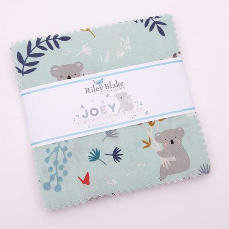 SALE 5 inch charm fabric squares JOEY by Riley Blake from image 0