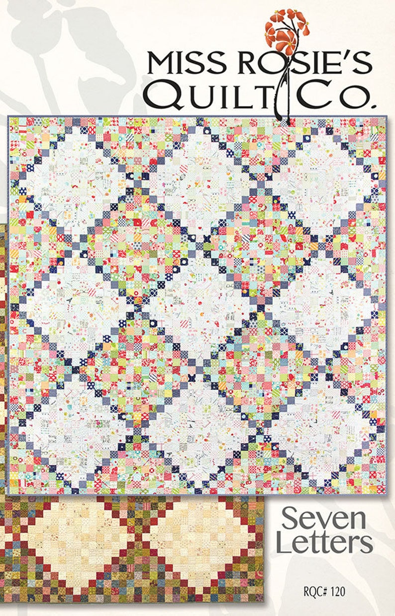 SALE SEVEN Letters quilt PATTERN by Miss Rosie's Quilt Co image 0