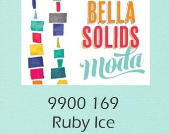 Bella Solids yardage You Pick Ruby Ice 9900 169 Moda fabric material yard fat quarter half