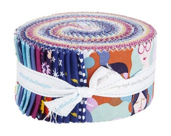 2.5 inch strips GRL POWER Jelly Roll fabric by Riley Blake Designs Amber Kemp-Gerstel Rp-10650-40 40 strips