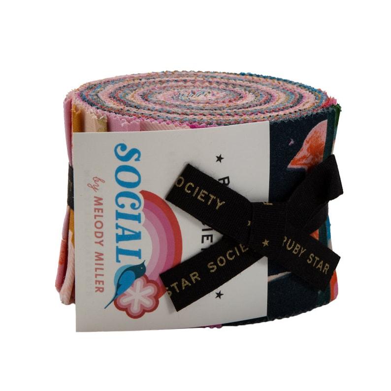 SALE SOCIAL Junior Jelly Roll Strips Moda Fabrics by Melody image 0