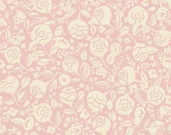 BEAUTY and the BEAST fabric floral pink Riley Blake Designs by Jill Howarth fat quarter half yard C9532-PiNK