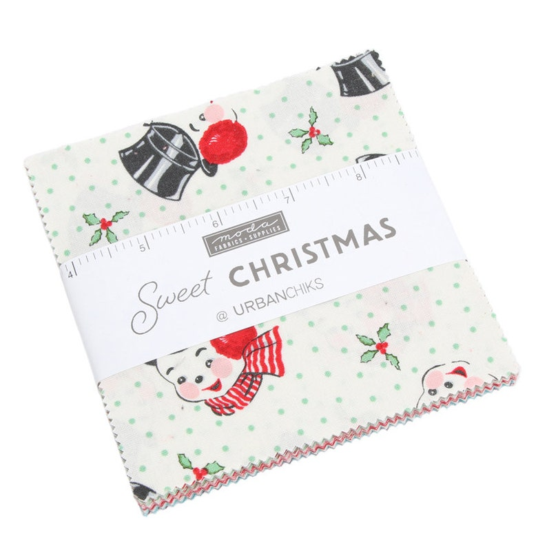 SALE It's Here 5 inch charm pack SWEET Christmas Moda image 0