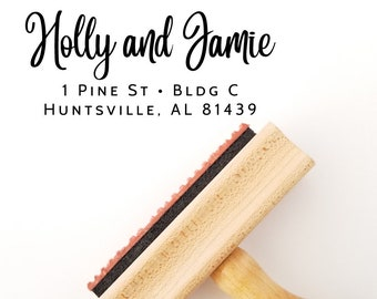 Wedding Stamp with Return Address - Self Inking and Wood Handle Mount Options - Personalized Housewarming Gift (397)