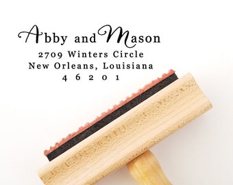 Self Inking Stamp - Return Address Stamps - Custom Address Stamp - Wooden Stamp - Wedding Gift For Couples (AS754)