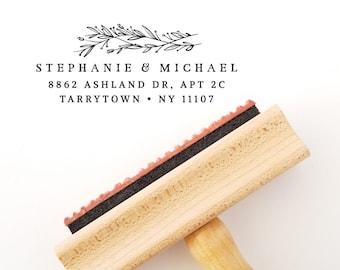 Self Inking Return Address Stamp - or - Wood Handle Stamp - Ink Pad Optional  (AS935)