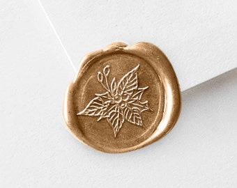 Christmas Wax Seal Stamp | Holly Berries with Leaves | Wax Pack Kit (729)
