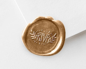 RSVP Wax Stamp Includes Three Wax Sticks | Wedding Sealing Kit | (345)
