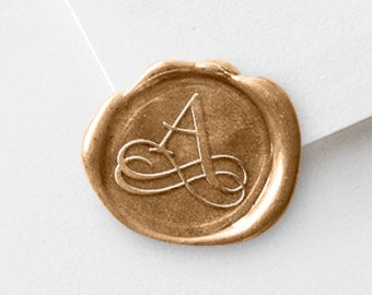 Monogram Wax Stamp, Sealing Stamper, Filligree Initial, 3 Wax Seal Sticks, Wax Seal Stamper, For Save The Date Envelopes, Bride-To-Be Gift