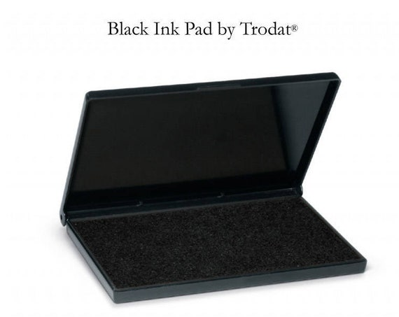 Inking Pad, For Address Stamps, Ink Pad, Stamp Ink, Rubber Stamp Ink, Black Ink, 3 Sizes Available, Including Extra Large (I416)