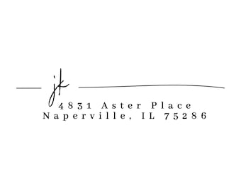House Warming Gift Family Stamp Return Address Stamp AS163