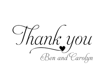 Wedding Stamp, Thank You Stamp. Custom Stamp, DIY Wedding, Favor Stamp, Wedding Favors, Self Inking Stamp, Rubber Stamp (683)