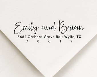Address Stamp, Wedding Invitations, Personalized Womens Gift, Return Address Stamp, Modern Address Stamp, Stamper (881)