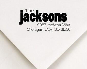 Custom Address Stamp -  - The Jacksons Design