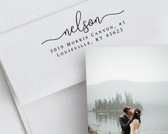 Address Stamp, Self Ink Stamp, Return Stamp, Personalized Stamp, Wedding Invite Stamp, Custom Stamp, Rubber Stamp, Gift Stamp (415)