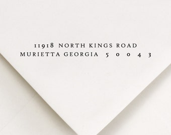 Return Address Stamp - Wood Handle or Self Inking  Address Stamp - North Kings Road