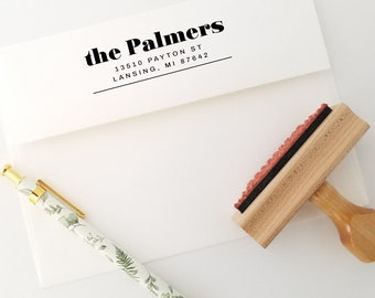 Family Impression Stamp With Return Address - 3 Lines For Personalization - (228)