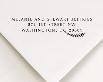Custom Address Stamp, Custom Address, Laurel Stamp (609)