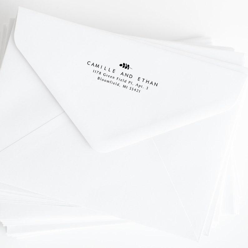 Custom Address Stamp Self Inking AS129 Housewarming Gifts